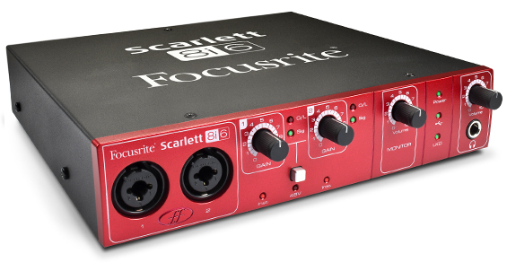 Focusrite Scarlett 8i6 side view